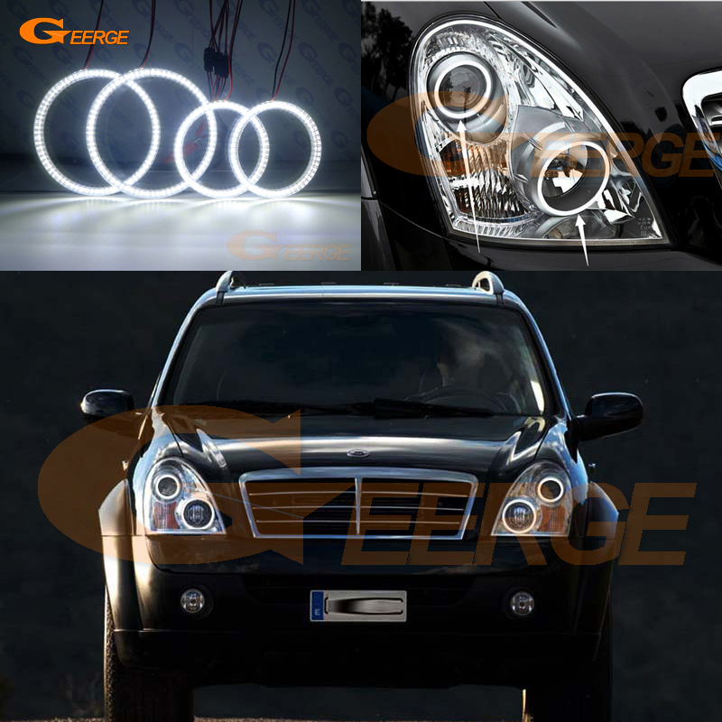 цена на For Ssangyong Rexton 2006 2007 2008 2009 2010 2011 2012 Excellent led Angel Eyes Ultra bright smd led Angel Eyes kit DRL