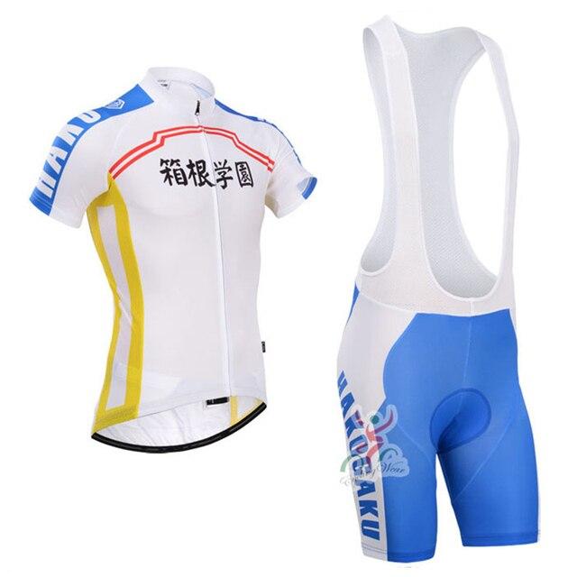 c0994d843 Yowamushi Pedal HAKOGAKU team cycling jersey MTB bike wear clothes uniform  Breathable Japan short shirt SET mens clothing gel