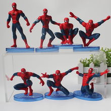7style Spiderman Figure Avengers Spider-Man mini Model Doll PVC Kids Toys цена 2017