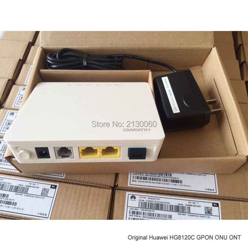 Telephone Communicator, Gpon Converter, Original Huawei HG8120C GPON ONU 2 Ethernet Ports, 1 Telephone Port, English Version