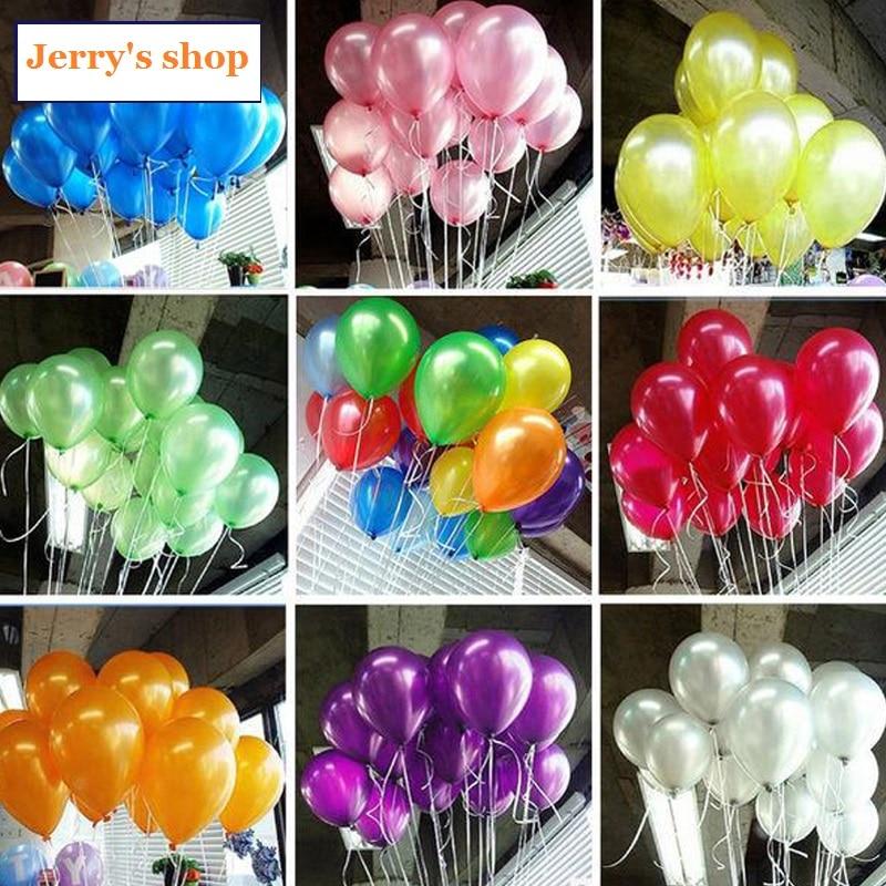 97-100pcs Quality 10inch Cheap Latex Ballon Balao Party Globos white Wedding bal