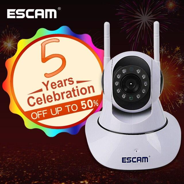 ESCAM G02 אנטנה כפולה 720 P פאן/להטות WiFi IP IR ONVIF תמיכת מצלמה מקסימום עד 128 GB צג וידאו מצלמת ip