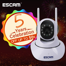 ESCAM G02 Dual Antenna 720P Pan/Tilt WiFi IP IR Camera Support ONVIF Max Up to 128GB Video Monitor ip camera(China)