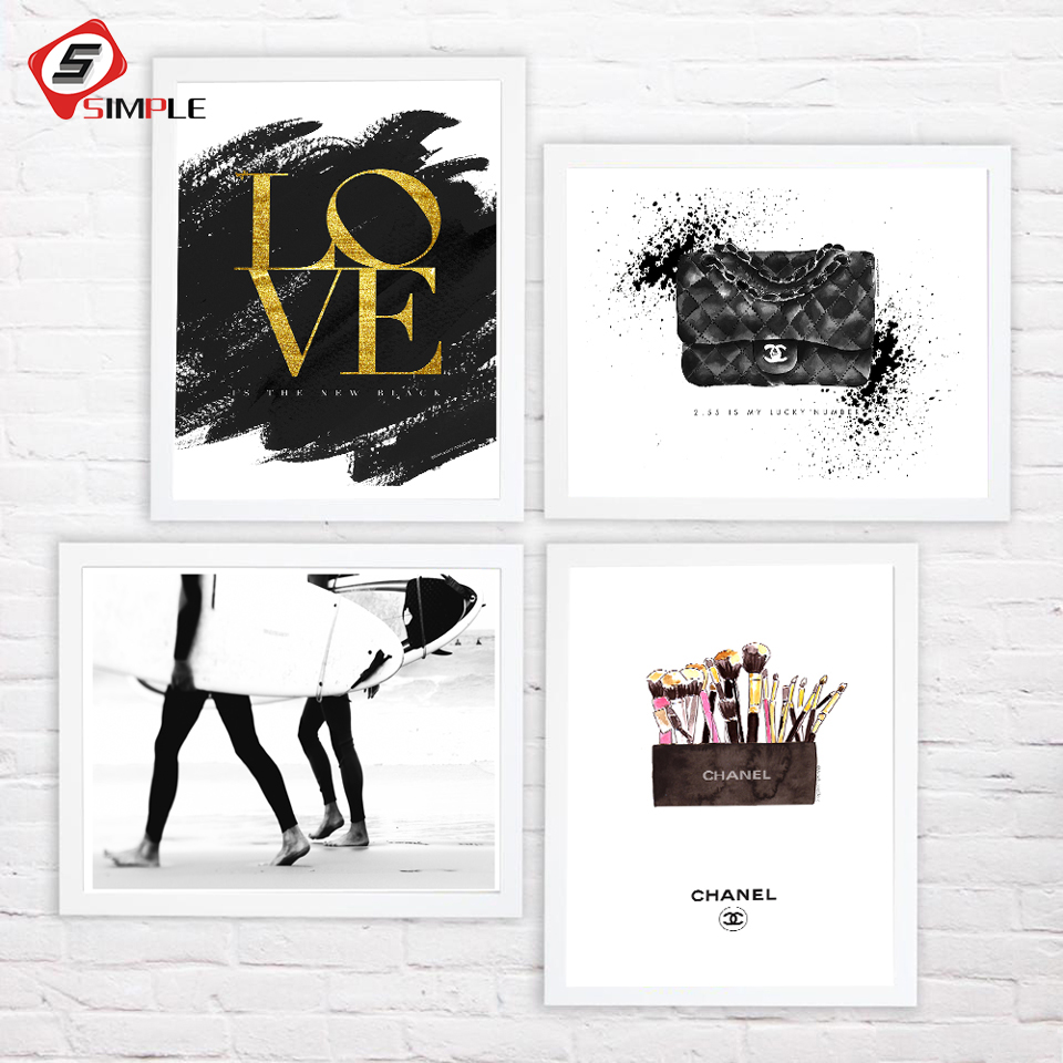 Vogue Prints Fashion Poster Print Art Painting Canvas Wall Pictures for living Room Girls Lady Modern Home Decoration No Frame