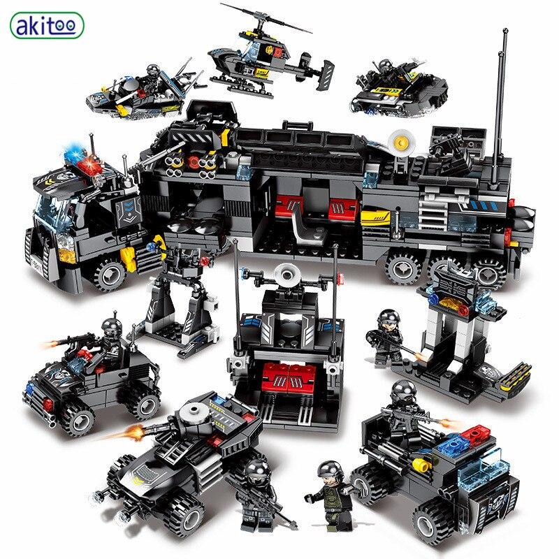 Akitoo Diy Team 27 ändern 8 In 3 Black Hawk Spezielle Auto Kleine Partikel Bausteine Puzzle Montiert Spielzeug #1205 Gut FüR Antipyretika Und Hals-Schnuller