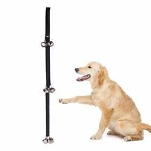 Ошейник для дрессировки собак, дверной звонок с регулируемой веревкой для дрессировки домашних животных, пульт сигнализации для домашних животных, кошек, дверной звонок из нержавеющей стали