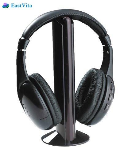 EastVita wireleess headphones bluetooth noise cancelling earphone for computer gaming MP3 player TV headset microphone FM radio ks 508 mp3 player stereo headset headphones w tf card slot fm black