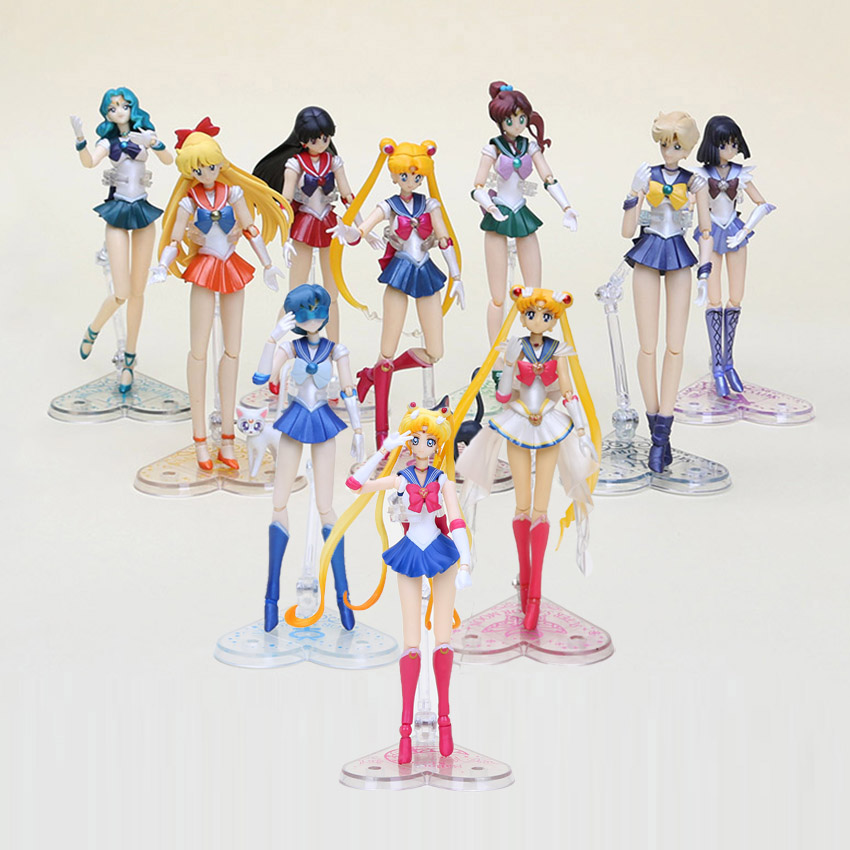Sailor Moon Mizuno Ami PVC Action Figure Statue Movable 14cm In Box Model Gift