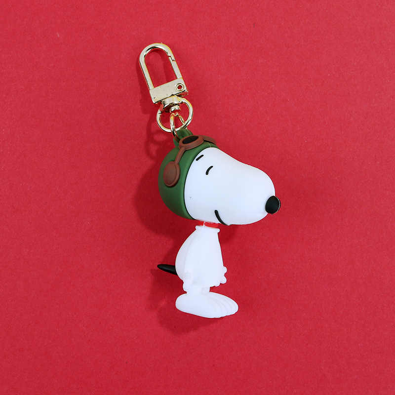 Llavero anime Charly brown Snoopy personaje llavero de muñecos para hombres y mujeres bolsas silicona muñeca colgante de llave de coche llavero