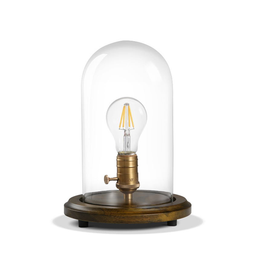 купить Edison Vintage Dimmer Table Lamps Loft Solid Wood Desk Lamp with Glass Shade American Country Room Bedside Light Cafe Home Decor по цене 5385.4 рублей