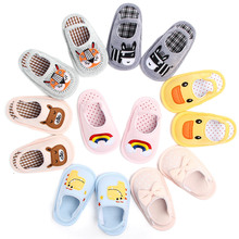 Kid Shoes Newborn Baby First Walkers Soft Boys Girls Cotton Fabric  Prewalker Anti-Slip Shoes Slippers 2018 Toddler Infant Shoes