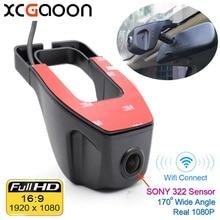 Xcgaoon Wi-Fi 170 градусов Видеорегистраторы для автомобилей Видео Регистраторы видеокамера тире Камера 1080 P Ночь Версия Новатэк 96655 Применение Sony 322 Сенсор