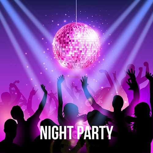 Night DJ DISCO Party Rock Stage photo backdrop Vinyl cloth High quality Computer printed wall  Backgrounds