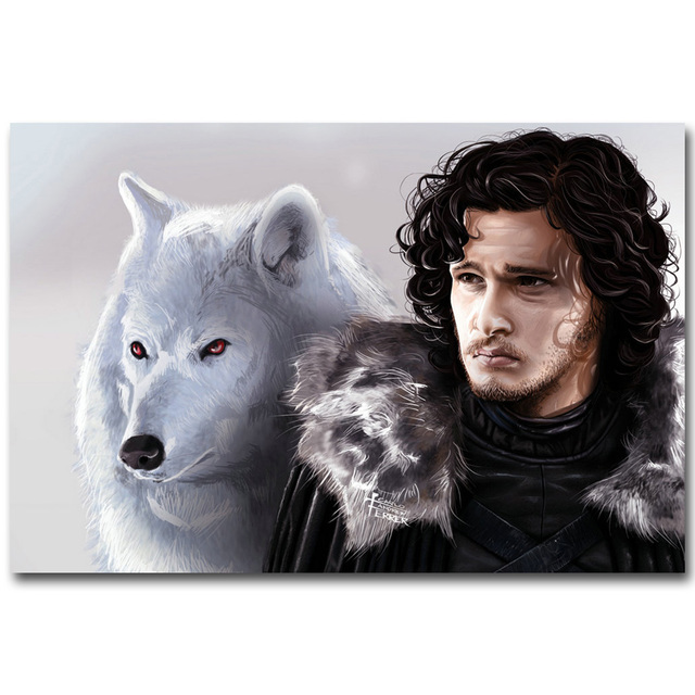 Game Of Thrones Art Silk Fabric Poster Print 13×20 24x36inch Jon Snow TV Series Picture for Wall Decor 28