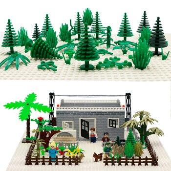 City Accessories Building Blocks Military Weapon Green Bush Flower Grass Tree Plants House Toys Leaves LegoINGlys Bricks Friends