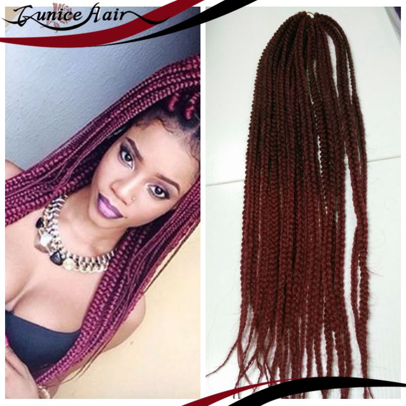 Box Braids Hair Crochet 20 Crochet Hair Extensions Synthetic Croche...