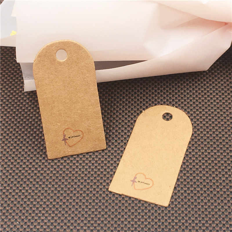 Thank You Tags For Gift Tags Handmade Paper Kraft Tags Wedding Etiquette Paper Labels Hang Label Supply Tags Favor 200Pcs/Lot