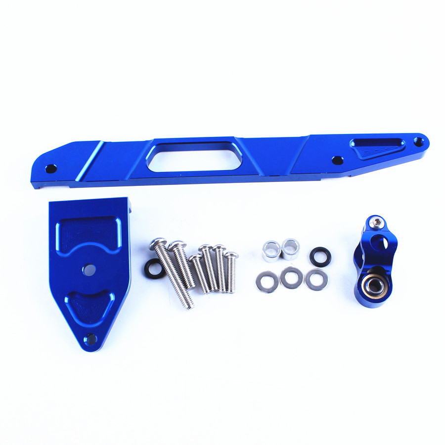 CNC Aluminum Steering Damper Stabilizer Bracket Mount Holder Kit For Yamaha XJR1300 XJR 1300 2002 2015