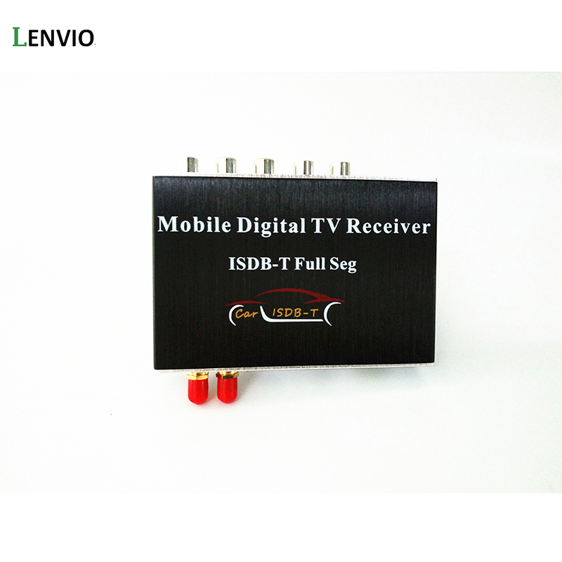 Lenvio HD Dual Tuner Car ISDB-T FULL SEG Digital TV receiver For for Philippines/South America isudar digital tv receiver for car tv tuner isdb t 2 way video out put for japan brazil south america free shipping