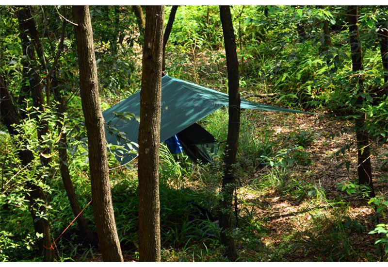 Apenas 510 gramas 3F UL ENGRENAGEM 3*3 metros 15d nylon revestimento de silicone de alta qualidade ao ar livre caming tent tarp