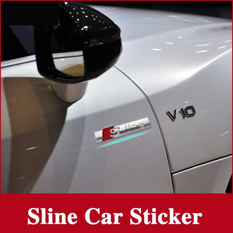 Hot Sale Car Side Door Sline S Line Fender Emblem Decal