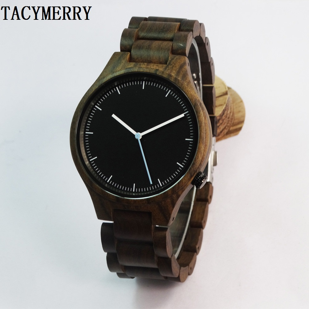 2016 Hot Selling Black Wooden Fashion Watch For Men Birthdays Gifts With Japen Movement