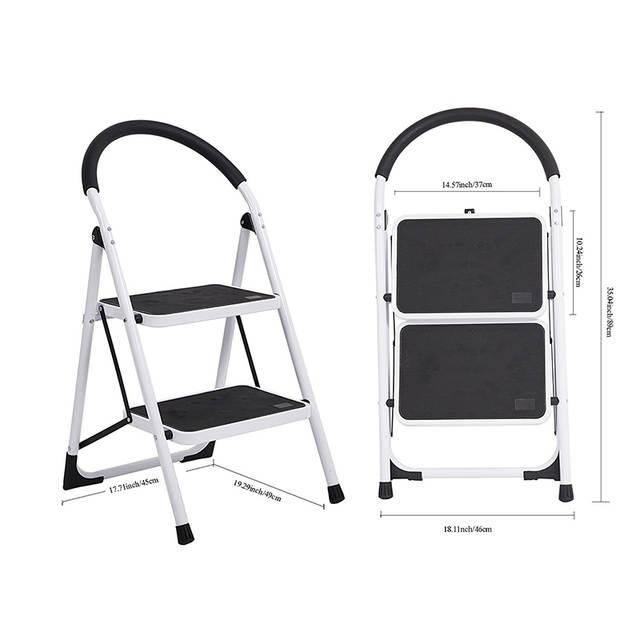 Pleasing 2 Step Household Folding Step Stool Super Strong Piper Pedal Frankydiablos Diy Chair Ideas Frankydiabloscom