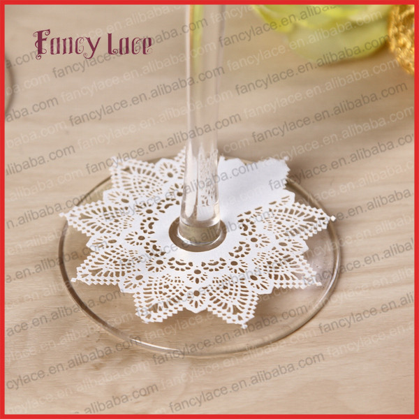 50pcs Lace Wine Claim Cards Christmas Party Decoration Wine Cups