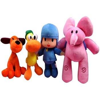 Skyleshine 4 unids/lote POCOYO Elly Pato Loula muñeco de peluche Pocoyo amigos regalos para niños S6173