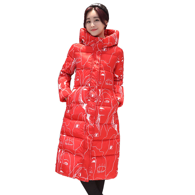 Wadded Cotton Jacket 2017 New Winter Long Parkas Hooded Slim Coat Pattern Designs Thick Warm  Coat Plus Sizes Female Outwears 2017 new winter women warm hooded thicken slim wadded jacket woman parkas female ladies wadded overcoat long cotton coat cxm31