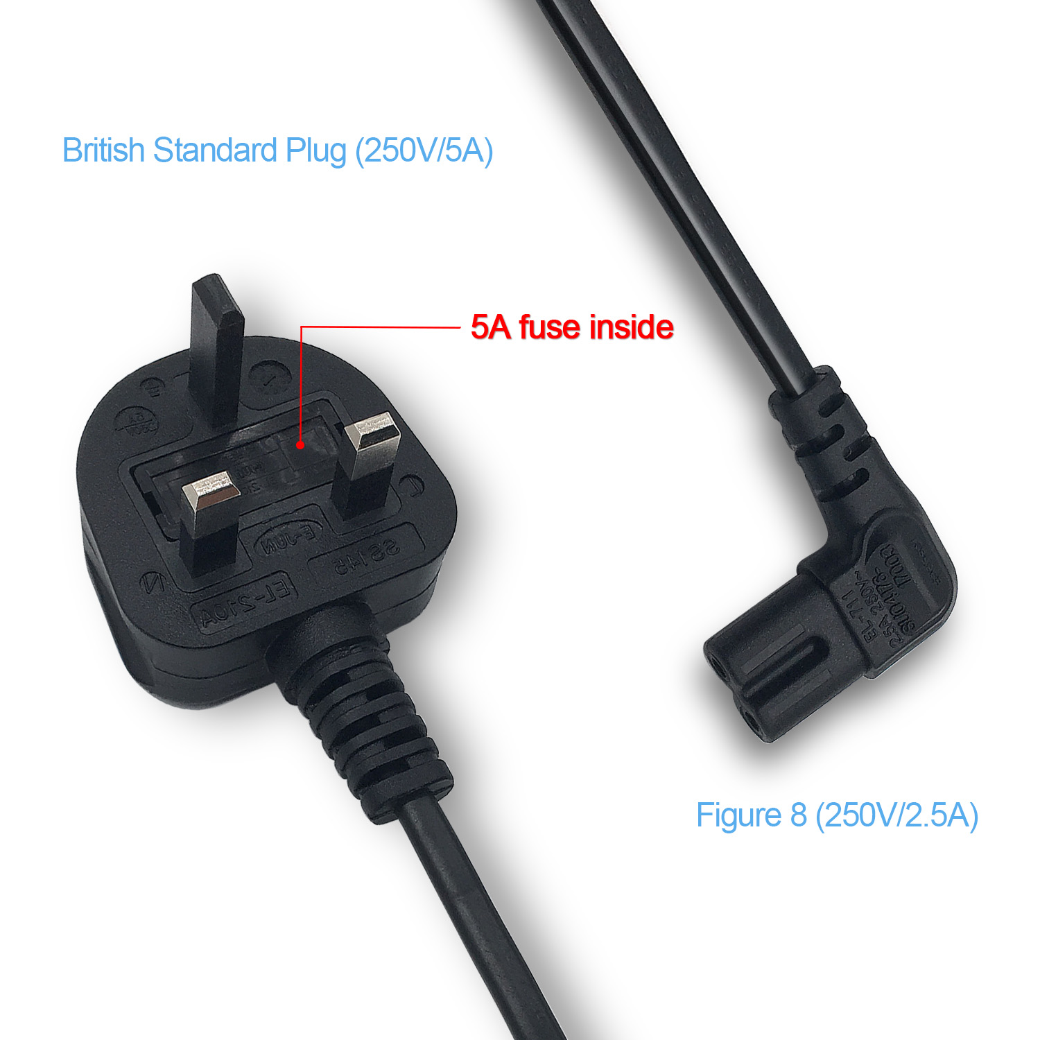 AC Power Cable C7 Mains Cable 5FT/1.5M For Projector/PS3 Slim/Sky receiver/Camera Charge etc