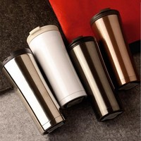 500 ml de vacío de acero inoxidable taza de aislamiento coche publicidad personalizada tazas de café taza del regalo creativo
