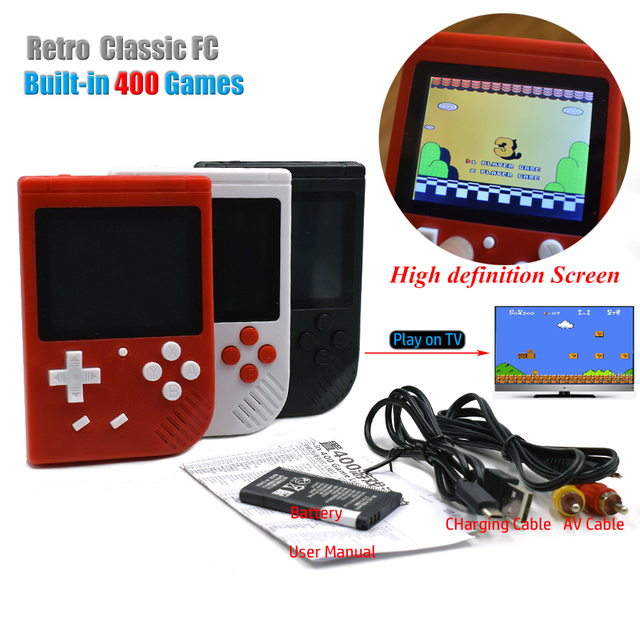 Retro Mini TV Handheld Game Player Built-in 400 Classic FC for TV Games Portable Children's Video Game Console Gift for Kids