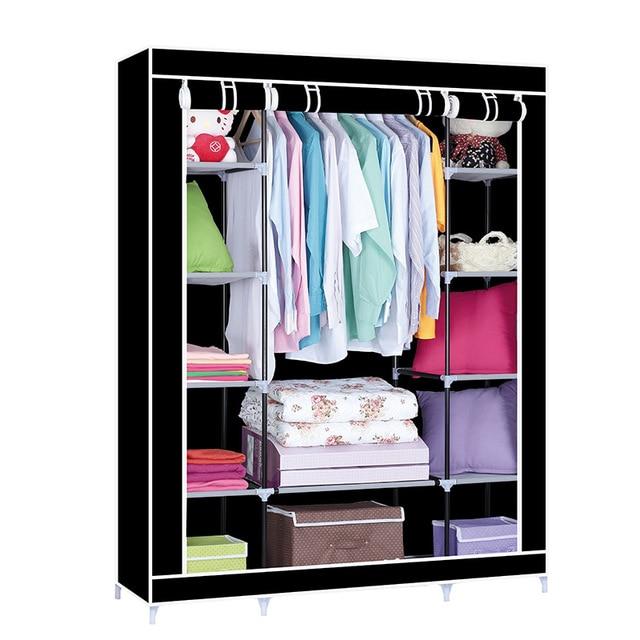 Clothes Cabinet Portable Closet Wardrobe DIY Storage Non woven Wardrobe Furniture For Clothes Wardrobe Storage System