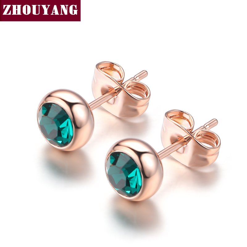 preserving vintage products flower high shape jewelry quality amp fashion female earrings color stud gold style