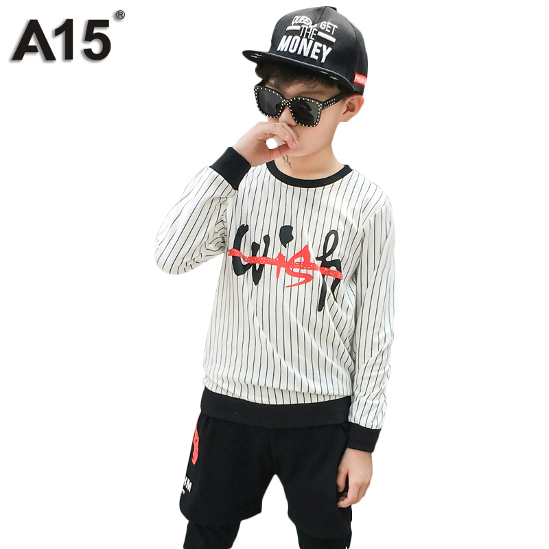 A15 Children Clothing Sets for Boys Sports Suits Teenage Kids Boy Clothes Set Autumn 2pcs Suit for Boy Size 6 8 10 12 14 16 Year