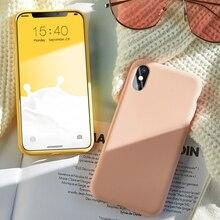 ASINA Case For iPhone 7 8 6 6s Original Liquid Silicone Plain Color Coque Capa Plus X Xs Max XR
