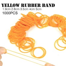 800pcs/pack Rubber Bands For School Office Household Package Anti-aging Rubber Ring Strong Elastic Yellow Color