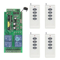 1000m Long Distance 10A Relay AC 220V 110V 85 265V 4 CH 4CH Wireless RF Remote