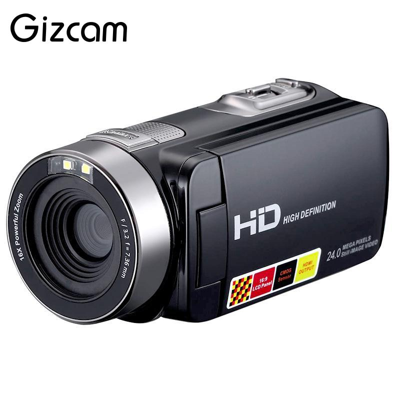 Gizcam 3.0 LCD Touch Screen 24MP Remote Control Video Camera 1080P Full HD Digital Camcorder Video Camera DV Night Shot 16XZoom цена