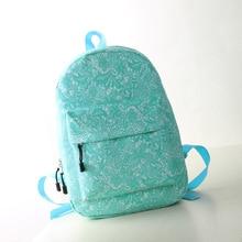 Горячий свежий мода печать школьников сумки женщины кружева рюкзаки высокое качество дважды плеча холст рюкзак 5019