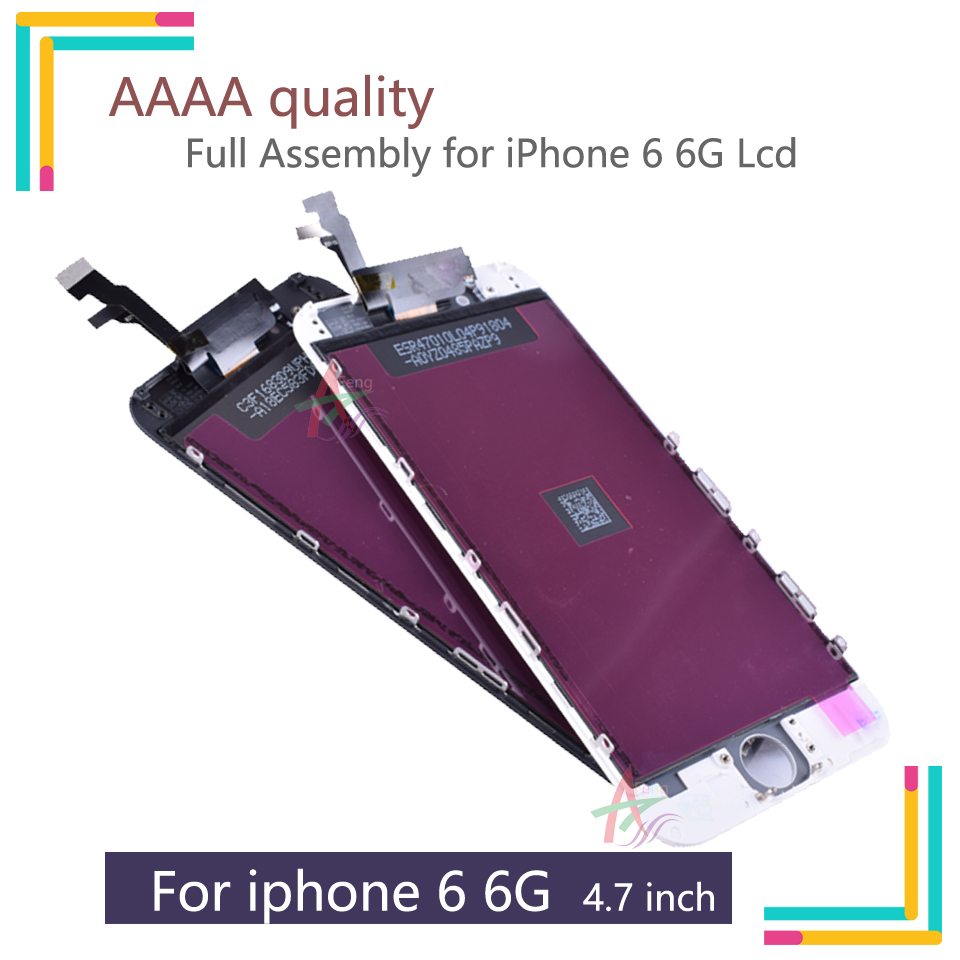 10PCS/LOT LCD For Apple <font><b>iPhone</b></font> <font><b>6</b></font> LCD <font><b>Screen</b></font> Display Digitizer assembly Replacement for <font><b>iphone</b></font> <font><b>6</b></font> 6G lcd complete <font><b>A1586</b></font> A1589 image