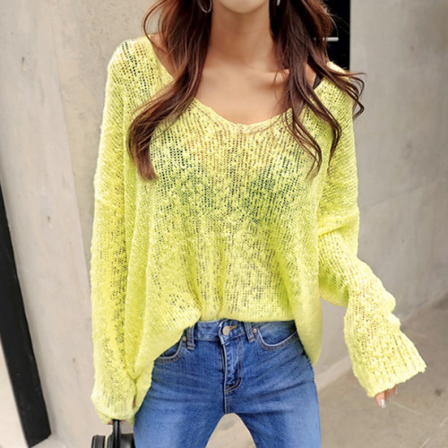 2019 Autumn Women Streetwear Hollow Sweater Women Casual Batwing Sleeve V neck Pullovers yellow black white loose oversize cloth-in Pullovers from Women's Clothing on AliExpress - 11.11_Double 11_Singles' Day 1