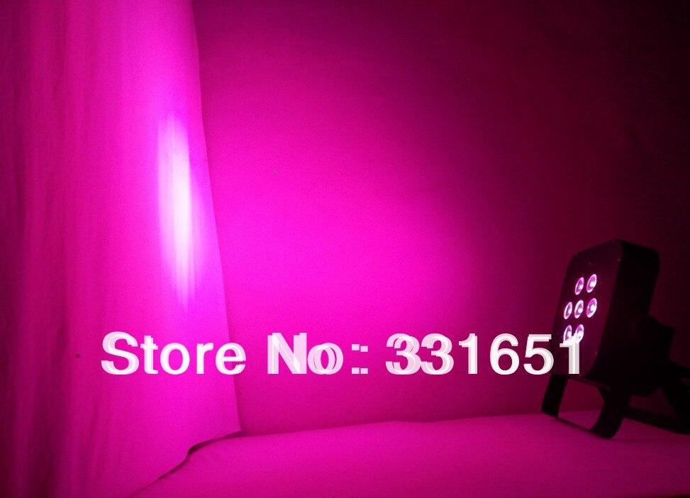 6pcs/lot 7x 15W RGBAW 5IN1 American DJ 5/9 channels New LED Flat Par