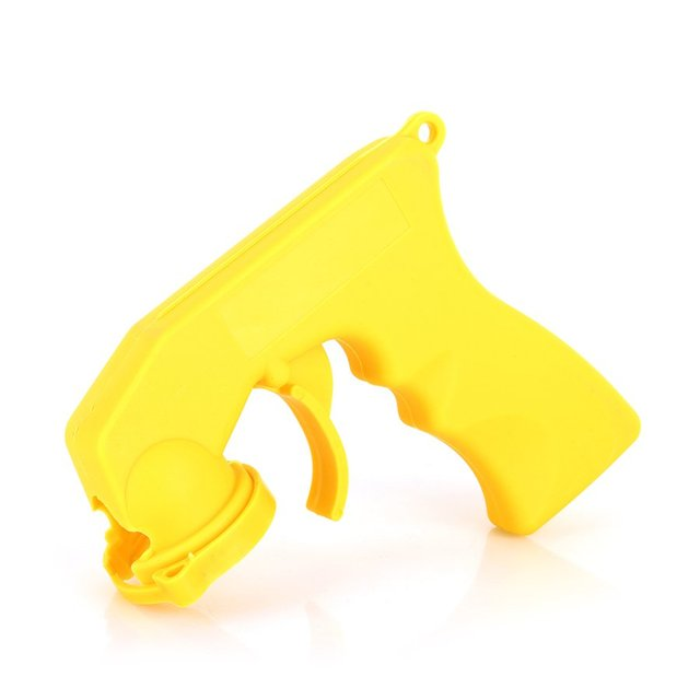 Spray Adaptor Paint Care Aerosol Spray Gun Handle with Full Grip Trigger Locking Collar Car Maintenance Painting Paint Tool