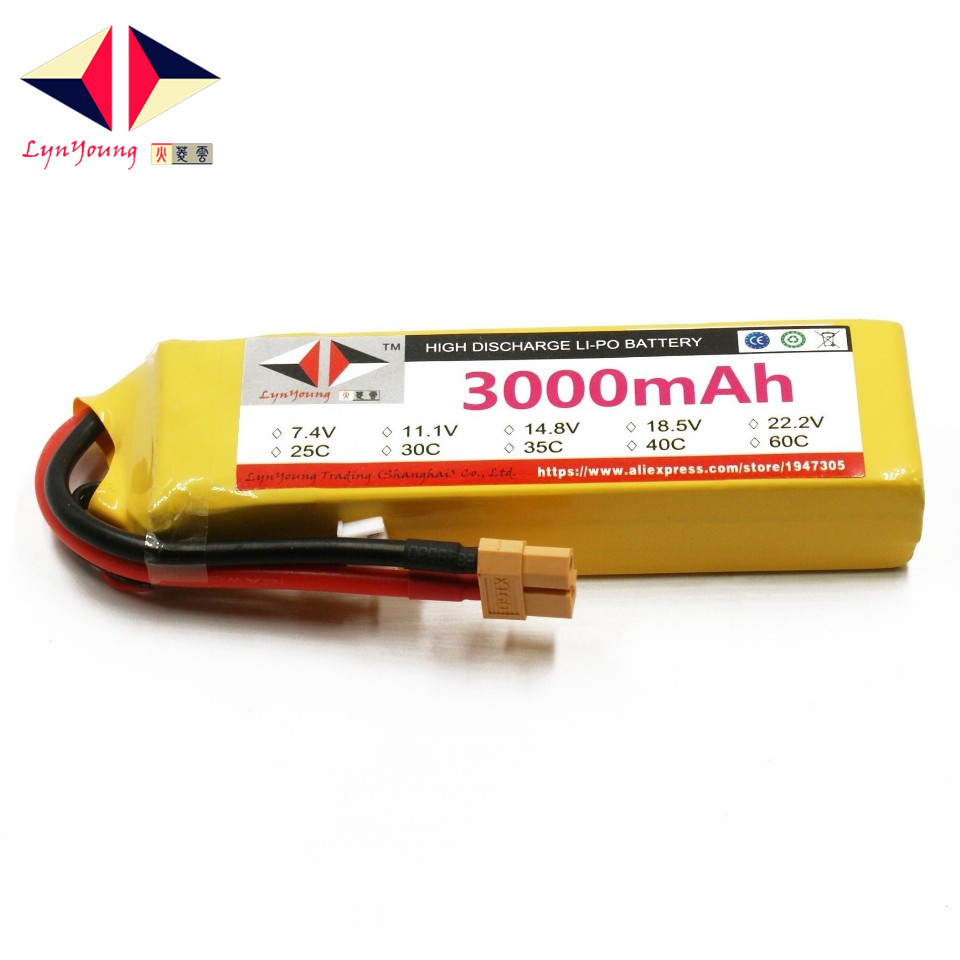 LYNYOUNG 7 4V RC Tank lipo battery 2S 3000mAh 25C for Car Truck Drone Quadcopter Helicopter