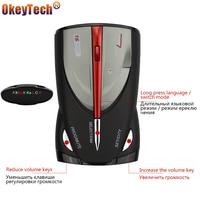 OkeyTech Car Vehicle Radar Detector 360 Degree Anti Car Detector Speed Laser Voice Alert Warning 16