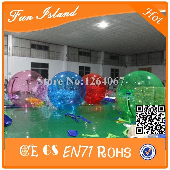 Бесплатная доставка 2.5 м Diamter Размеры летние игры воды надувной мяч прокатки, водный шар, воды Гуляя