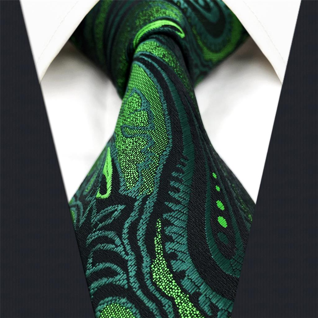 Silk Ties For Men Classic Extra Long Neck Tie Paisley 63