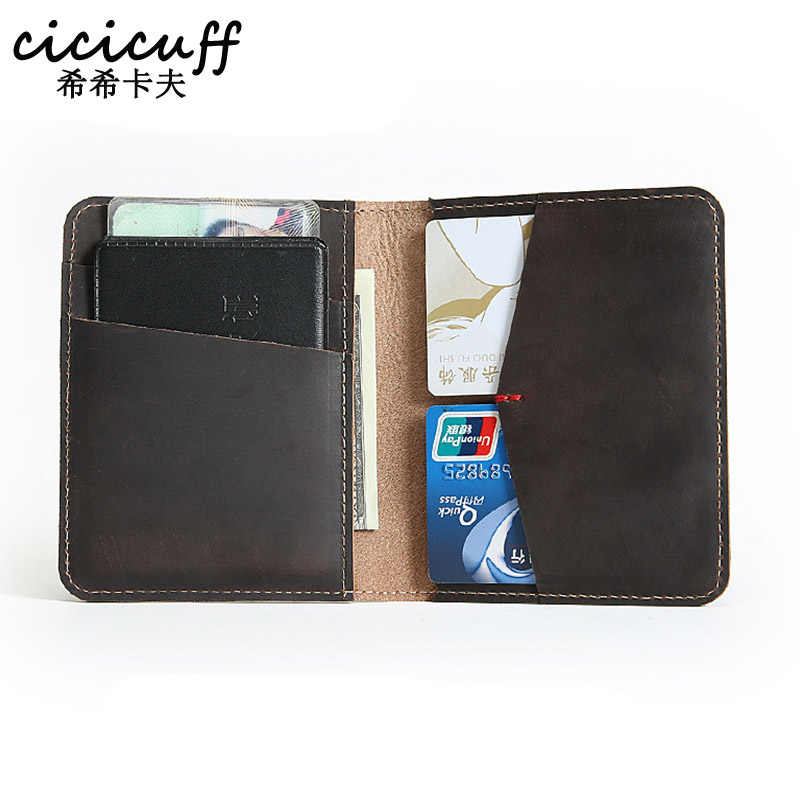 Crazy Horse Leather Card Holders Genuine Leather Credit ID Card Case Holder Real Leather Wallet for Men Cardholder Wholesale